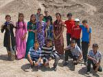Turkmen children pose for a photo