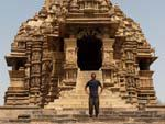 Travis outside the Kandariya Mahadev Temple