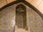 Raised minbar for the Khatib at the Vakil Mosque