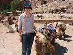 Petra Day Two - Sonya and a camel