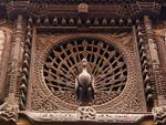 15th-century peacock window, reputed to be the finest carved window in the Kathmandu valley