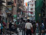 Bustling freak street, named due to inhabitants in the sixties