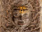 Intricate stone carving of monkey figure on Vishwanath (Shiva) Temple
