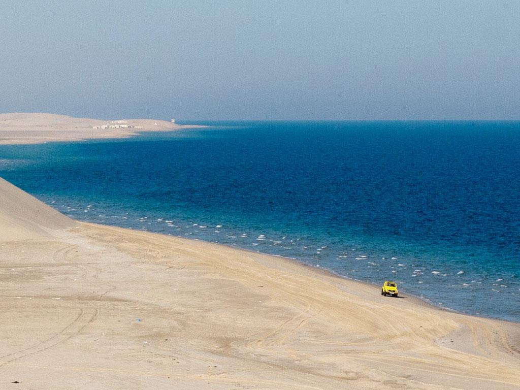 Khor al Adaid (Inland Sea), Qatar - Sonya and Travis
