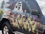 Decorated car with Emir and Qatari Military