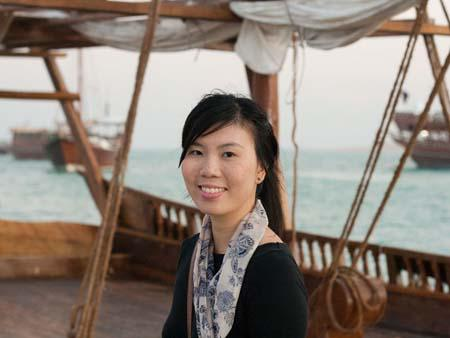 Sonya on a dhow