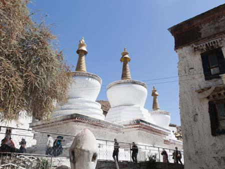 The three large Chortens