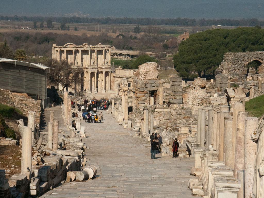 Ancient Greek city of Ephesus - Sonya and Travis